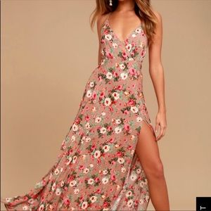 Lulus floral max with slit
